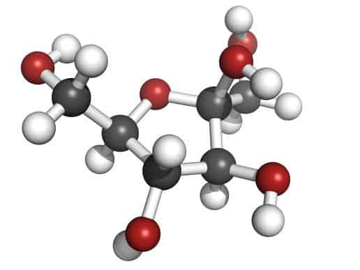 Fructose Fruit Sugar Molecule, Chemical Structure.