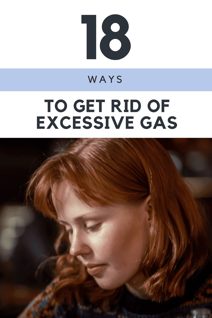 Do you suffer from excessive gas and bloating in the stomach? Here are 18 easy ways to get rid of excessive gas, and feel comfortable. | https://dietingwell.com/how-to-get-rid-of-excessive-gas/