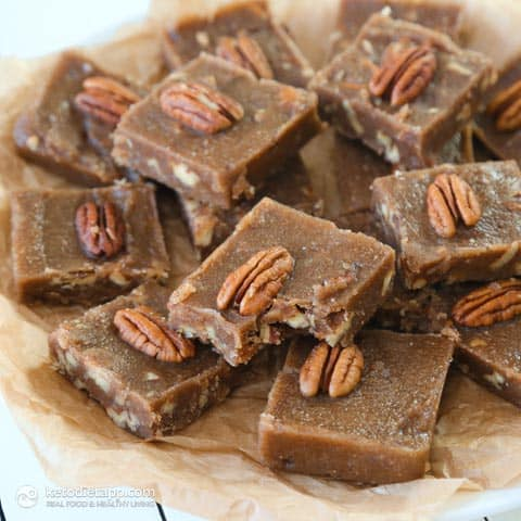 Maple & Pecan Fudge Keto Fat Bombs